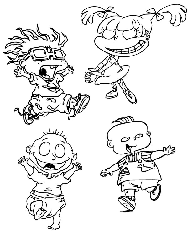 Printable Rugrats Characters Coloring Page