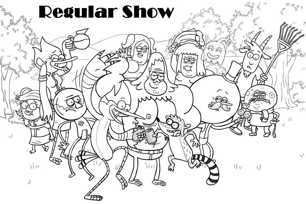Regular Show Coloring Pages Printable