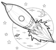 6 Patterns of Rocket Coloring Pages from Simple to Complex for All Ages