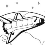 Rocket Travel Around The World Coloring Sheet