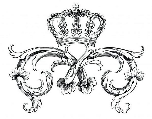 Royal Princess Crown Coloring Page