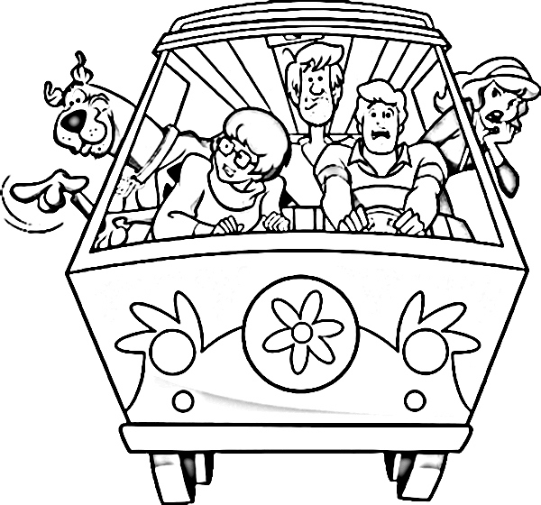 scooby doo bus coloring book