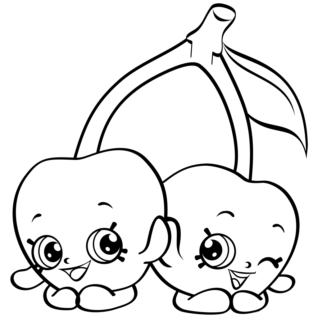 Shopkins Apple Coloring Sheet