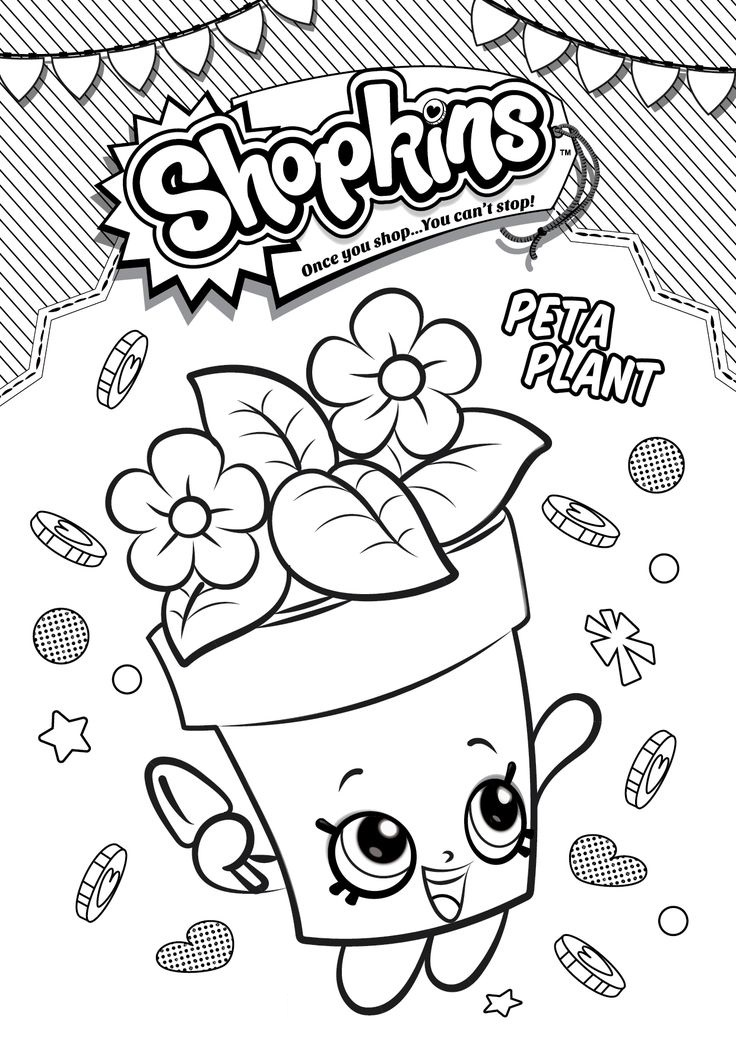 Shopkins Peta Plant Coloring Pages For Kids
