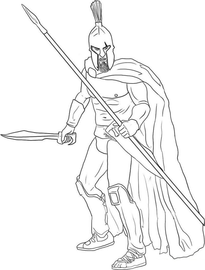 Sparta Ancient Rome Coloring Sheet