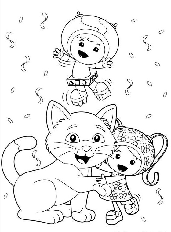 Team Umizoomi Christmas Colouring