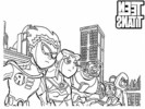 Teen Titans Coloring Pages For Kid's Ages 6 to 12 Years Old