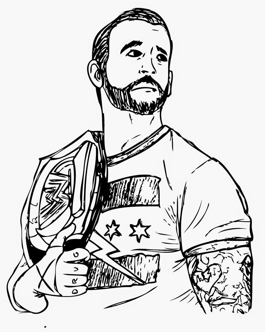 The Winner Of Wwe Coloring Page