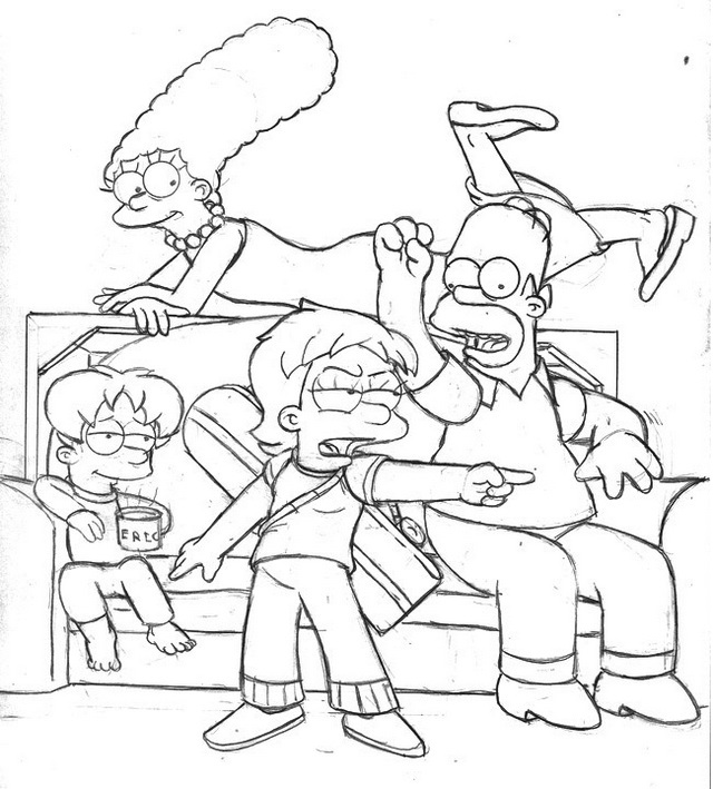 the simpsons coloring book printable