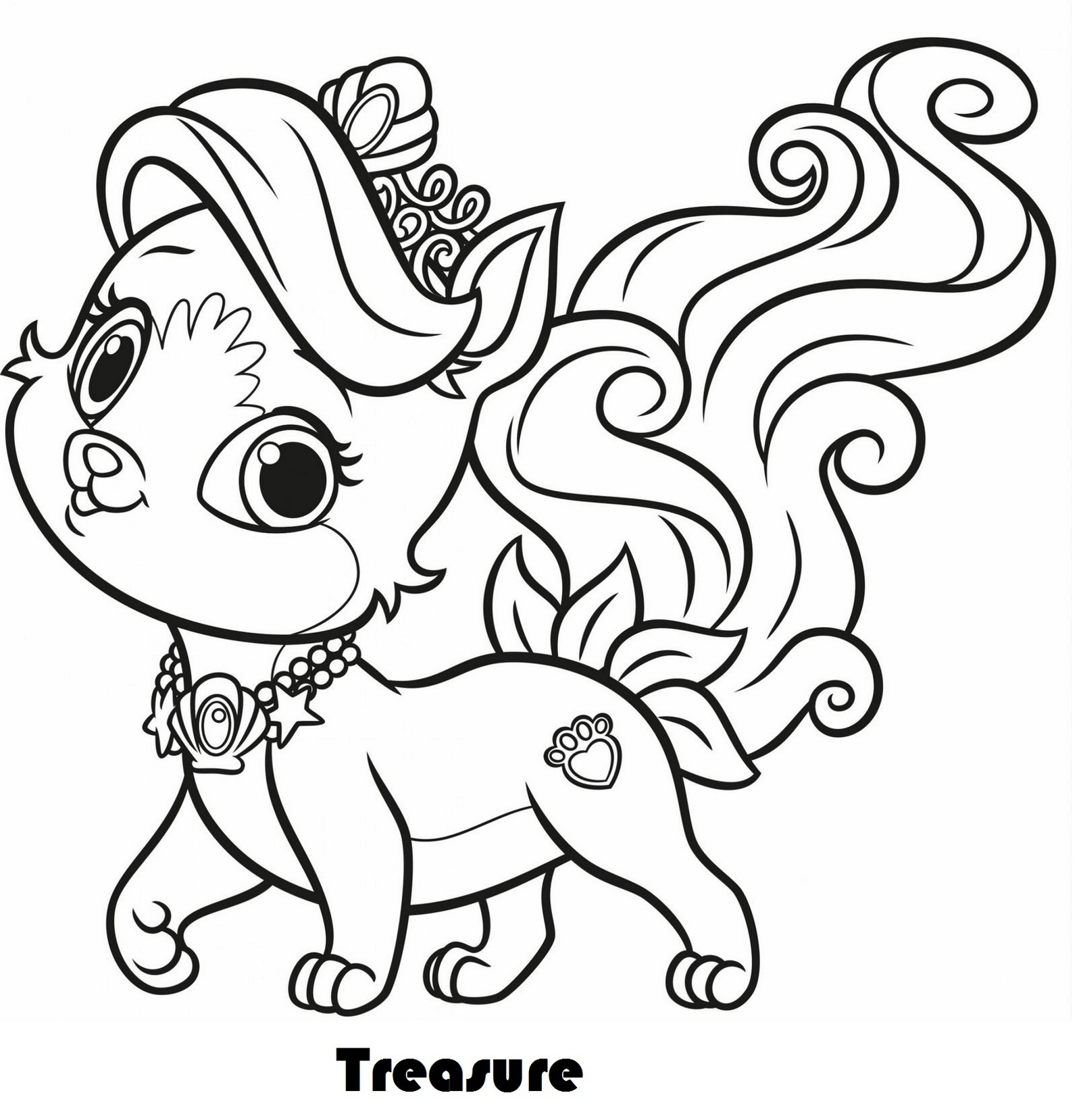 Treasure From Palace Pets Coloring Pages