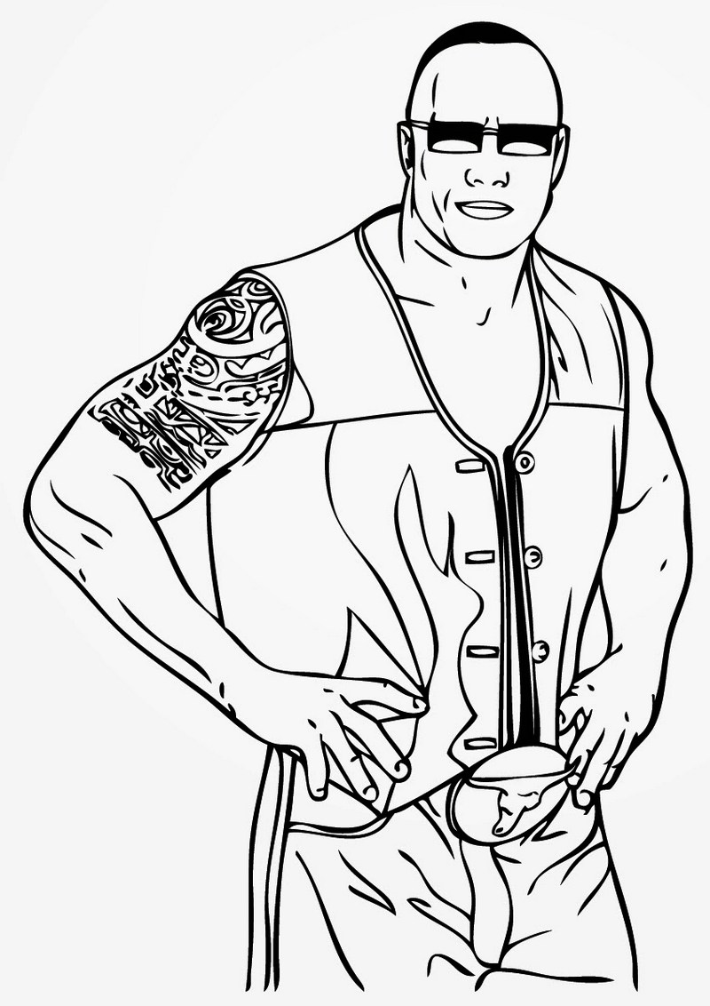 World Wrestling Entertainment Wwe Coloring Pages Line Drawing