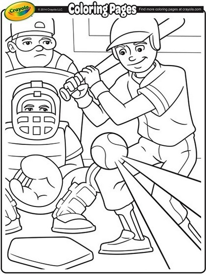 Baseball sport coloring printable page
