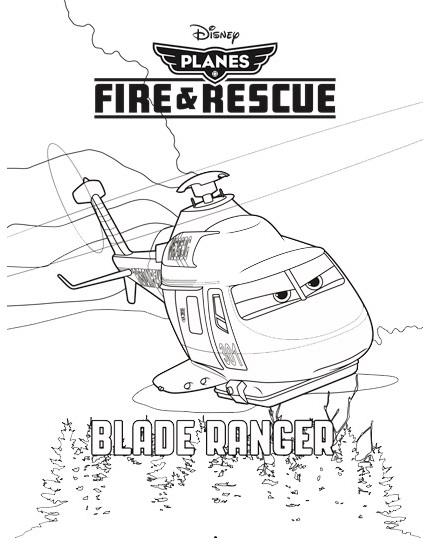 Blade Ranger from Planes Fire and Rescue Disney Coloring Picture