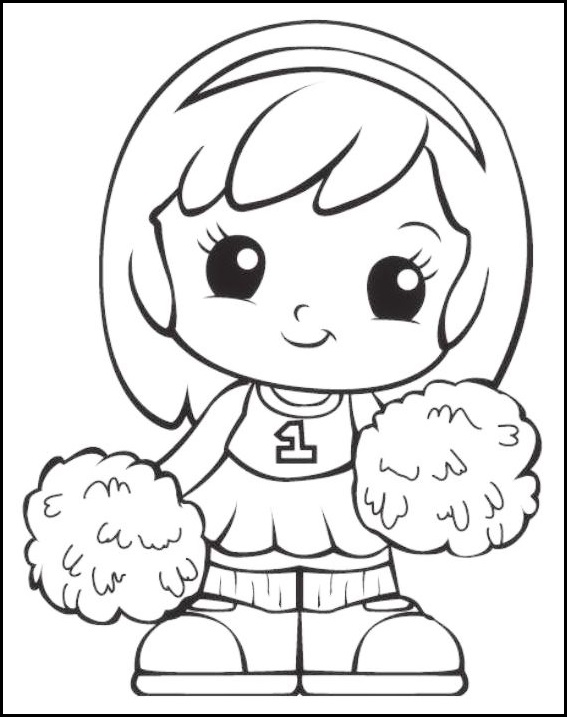 Chibi Squinkies Girl Coloring Pages