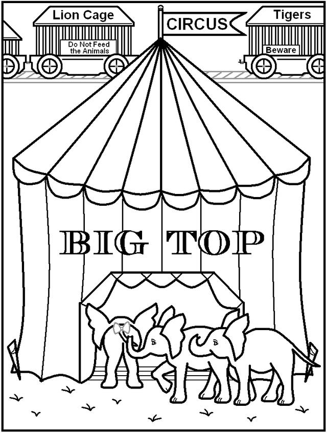 Circus Tent Coloring Book