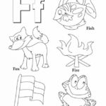 F letter atoz coloring sheet