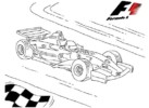 Formula 1 Racing Cars Coloring Pages