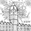 Sparkler Fireworks Coloring Pages