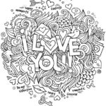 I love you Quote coloring pages