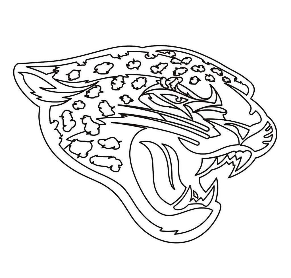Jacksonville Jaguars Team from NFL coloring and activity page