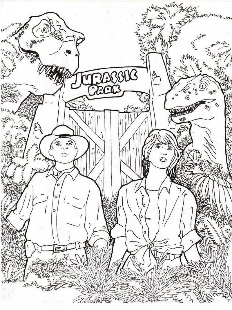 Jurassic park coloring books printable