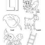 L alphabet atoz coloring picture