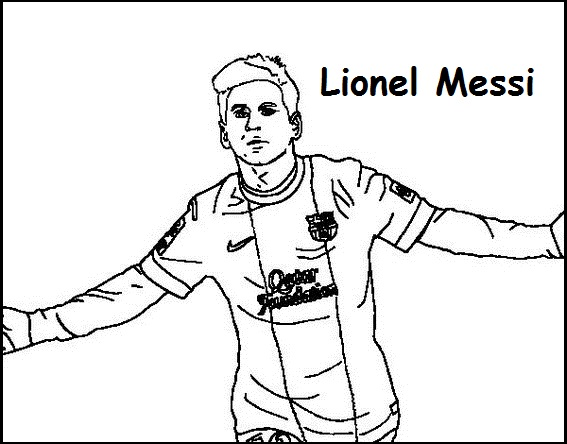 Lionel Messi Coloring Printable Page