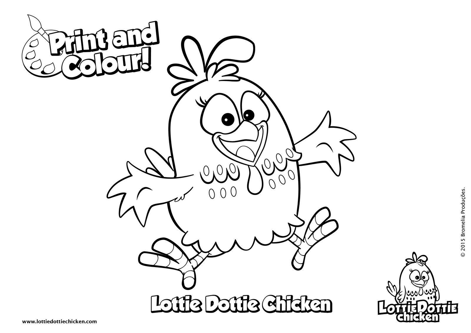 Lottie Dottie Chicken Coloring Sheet
