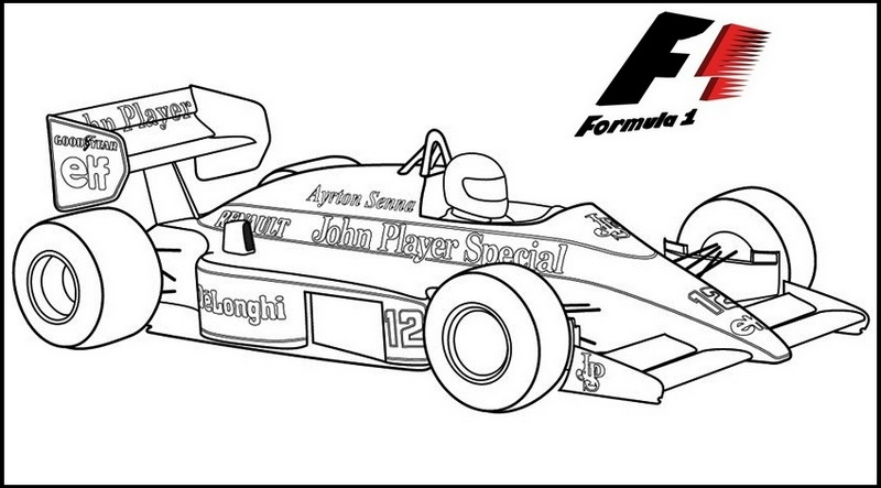 Lotus F1 coloring page