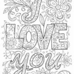Love Coloring and Activity Page