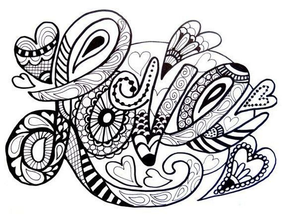 Love Zentangle Pictures Designs