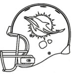Miami Dolphins Helmet Coloring NFL Page