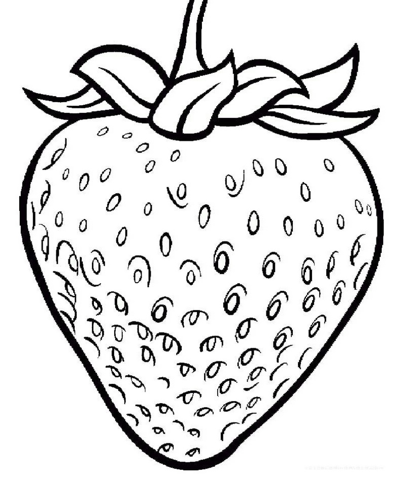 One Large Strawberry coloring page printable