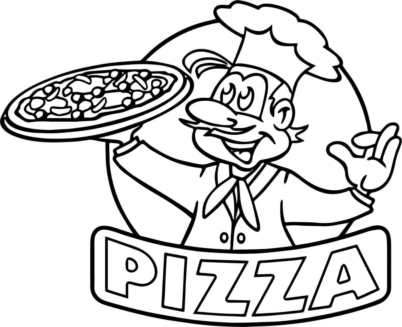 Pizza Restaurant Logo Coloring Page
