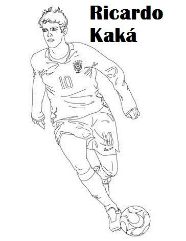 Ricardo Kaká Brazil Soccer Player Coloring Printable Page