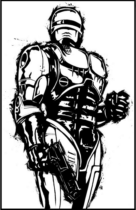 Robocop Coloring and Activity Page