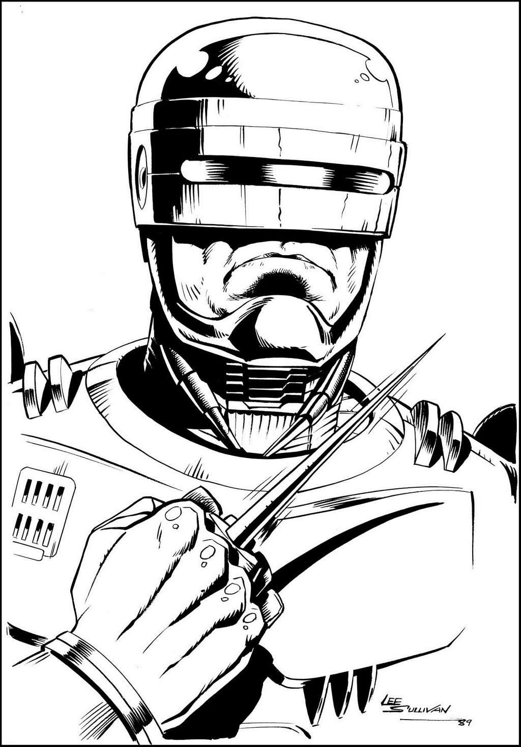 Robocop Superhero Coloring Sheet