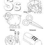 S alphabet atoz coloring kids coloring page