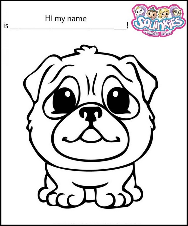 Squinkies Dragonpug Coloring Sheet