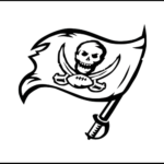 Tampa Bay Buccaneers Team Logo Coloring NFL sheet America Football Team Coloring Page