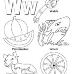 W alphabet atoz coloring book