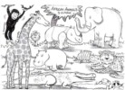 The Jungle and African Animal Coloring Pages with Savanna Scenery