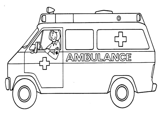 ambulance patients coloring page