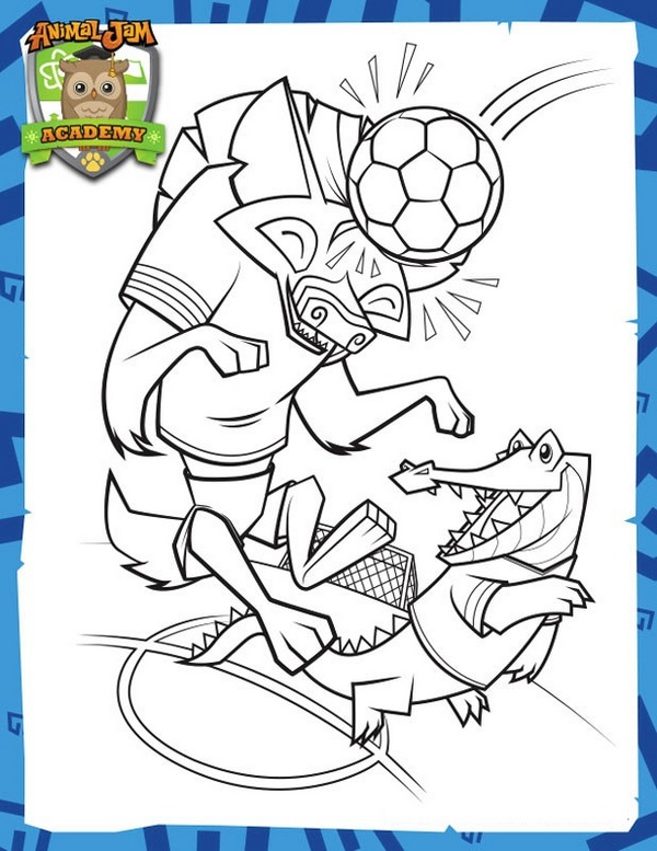 animal jam academy coloring sheet printable