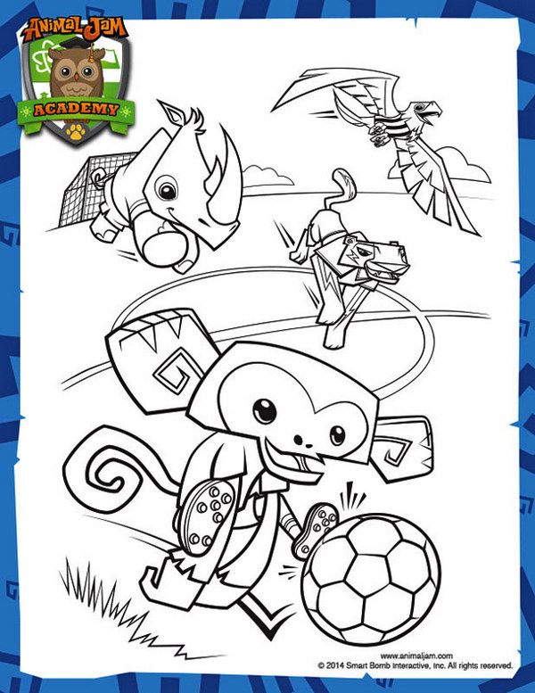 animal jam coloring book for kids