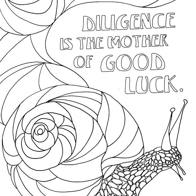 A Tiny and Slow Animal, Snail Coloring Pages - Coloring Pages