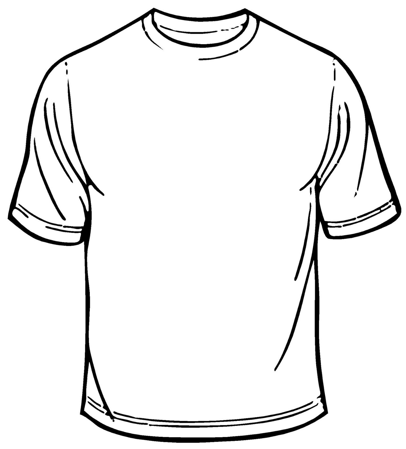 blank t shirt coloring sheet printable