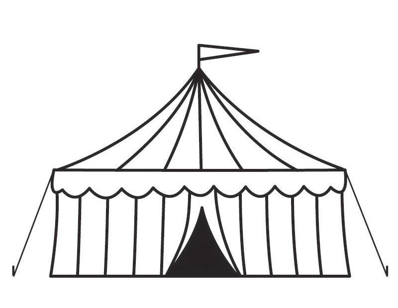 circus tent coloring app