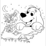 clifford christmas coloring picture