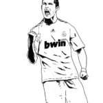 cristiano ronaldo real madrid coloring soccer player sheet